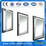 Design de Janela Casement Vertical de alumínio vidraças duplas de janelas e portas de alumínio