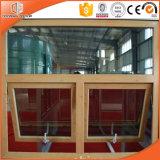 Altamente elogiado y modificado para requisitos particulares Tamaño de la ventana de aluminio del toldo, ventana de toldo compuesta de aluminio de madera italiana