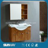 An der Wand befestigte widergespiegelte festes Holz-Badezimmer-Gegeneitelkeit Sw-OA005