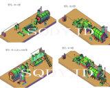 Neumático libre de la contaminación a la maquinaria del refino de petróleo para el aceite de la pirolisis