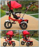 Рамка трициклов пассажира младенца ремня безопасности ягнится трицикл с сенью