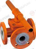 3 тип фланца шарикового клапана дороги выровнянный PFA