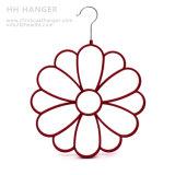 Venta al por mayor Flocked Hanger, Bufandas Velvet Flocking Hangers