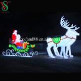 Christmas Santa Sleigh and Deer