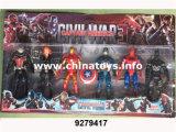 "Light (9279413)를 가진 최신 Selling Plastic Toys 6 "" Cartoon Doll"