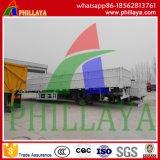 Flatbed Afneembare Semi Aanhangwagen van de Daling van de Zijgevel