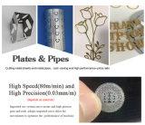 Taglierina d'acciaio Lm3015m del laser della fibra del ferro per i piatti ed i tubi
