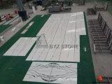 Mattonelle di pietra di marmo bianche del panda per il pavimento, decorazione domestica