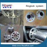Échafaudage de système de Ringlock galvanisé par acier d'élément