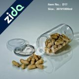 La frutta secca di plastica dell'animale domestico del diametro 250ml può con il coperchio di alluminio