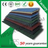 Tuile de toit enduite en métal de zinc de toiture de feuille de pierre de tuile de construction de pierre en acier en aluminium de matériau