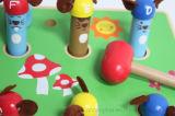 Seis educacionais de madeira rato de madeira e jogo de madeira do martelo