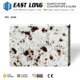 Artificial Granite Color Quartz Stone for Island Tops with Shining Plished Surface