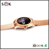 Smartwatch neuf K89 montre intelligente de Bluetooth d'écran de 1.22 IPS de pouce de moniteur du rythme cardiaque rond de support pour l'androïde Smartphone d'IOS