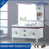 Neuer Fußboden-stehender Spiegel-Schrank-Entwurf Belüftung-Badezimmer-Schrank