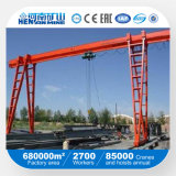 Kraan van de Brug van de Balk van de Plicht van het Merk van Kuangyuan de Lichte Enige met Elektrisch Hijstoestel in BuitenPakhuis