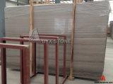 Laje de mármore de madeira cinza Atenas para pavimentação, decoração de parede