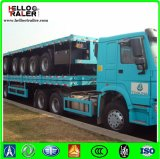 3 Aanhangwagen van de Tractor van assen Flatbed met de Sloten van de Draai