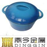 ロッジによってエナメルを塗られる鋳鉄のダッチオーブン、エナメルの鋳鉄の鍋