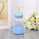 Piccola bottiglia di acqua di vetro sveglia di figura 260ml dell'erba (CHB8004)