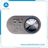 ブレール(OS43)が付いている赤灯DC24Vのエレベーターの警察官の押しボタン