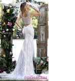 O vestido de casamento o mais novo do laço da alta qualidade 2016 com perolização de vestidos nupciais