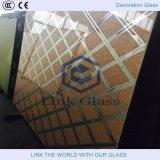 Vidrio satinado ácido para las particiones Cristal / vidrio de la pared / las pantallas de la ducha Vidrio