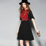 Form-Kleid-Reißverschluss Placket schwarze Frauen-Abschlussball-Kleid mit Riemen
