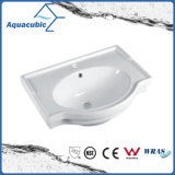 Da mão cerâmica da bacia do gabinete do banheiro dissipador de lavagem Semi-Recessed (ACB5045A)