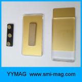 Étiquettes de nom de magnétique en plastique blanc insigne avec support magnétique