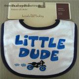 Babero bordado del bebé de la limpieza fácil del algodón puro
