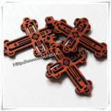 Antike natürliche preiswerte fertige hölzerne Kreuze für Fertigkeiten (IO-cw011)