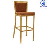 足台が付いている快適な耐久ファブリッククッションの鉄棒の椅子