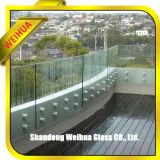 vetro laminato temperato 12mm per il vetro del portello del corrimano/stanza da bagno della scala con Ce/ISO9001/ccc