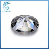 타원형 화려한 커트 9X7mm 회색 다채로운 합성 Moissanite 원석