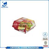 Rectángulo de papel de empaquetado plegable de encargo de la hamburguesa de los alimentos de preparación rápida