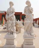 중국 백색 대리석 Statues 4 절기 숙녀