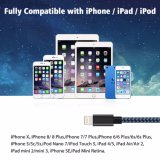 Кабель от воздействий молнии нейлоновой оплеткой USB a на молнии совместимый кабель для iPhone X / 8 / 8 / 7 / 7 / 6 / 6 Plus / 5s и более