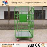Trole logístico dobrável resistente da carga do transporte do engranzamento de fio de aço