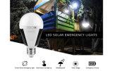 비상사태, 태풍, 힘 정전을%s 재충전용 LED 태양 비상사태 전구 7W 600-700lm 재충전용 휴대용 옥외 태양 점화 램프