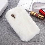 Flaumiger warmer weicher Wolle-Kaninchen-Pelz-Haut-Telefon-Kasten für iPhone X