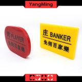 Акриловый покер казина банкошета/игрока Carvings предназначил установленную кнопку Baccarat кнопки установленную (YM-dB03)
