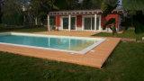 Panneau composé de plastique en bois imperméable à l'eau de Decking de WPC pour la piscine