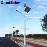 태양 LED 가로등에 있는 단 하나 팔 20W-200W 바람 태양 잡종 가벼운 시스템