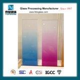 Высокая температура шелкографии печать Tempered-Glass, постепенное изменение цвета стекла