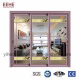 Подгонянная двери жалюзиего размера дверь жалюзиего внешней стеклянной алюминиевая
