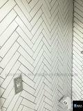 백색 헤링본 벽에 의하여 윤이 나는 사기그릇 모자이크 Tile45X195mm