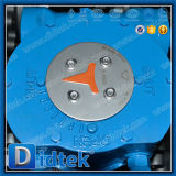 Тип клапан-бабочка волочения испытания Dn350 Didtek 100% втройне ексцентрическый