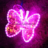 Usine de luminaires LED Papillon Motif d'alimentation des feux de corde