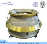 Manteau de pièces de rechange de broyeur de cône de Metso MP1000 d'acier de manganèse et concave